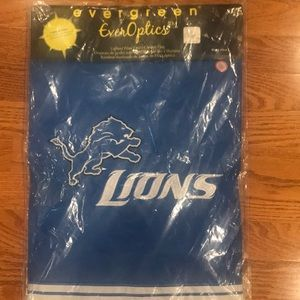 Detroit lions light up garden flag
